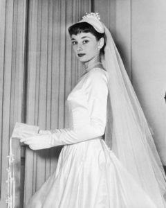abito da sposa di Audrey