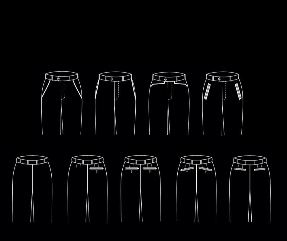 Abiti su misura Pantaloni su misura Zanotti Uomo zanotti sartoria